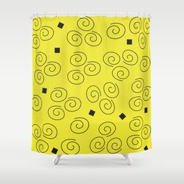 Abstract Graphic Sunny Day Shower Curtain