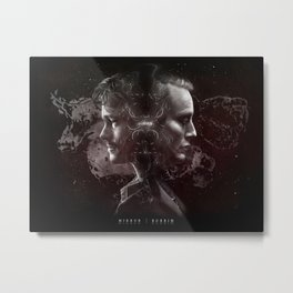 Hannibal Lecter and Will Graham - Mirrors Metal Print