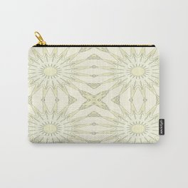Beige Pinwheel Flowers Carry-All Pouch