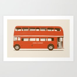 Double-Decker London Bus Art Print