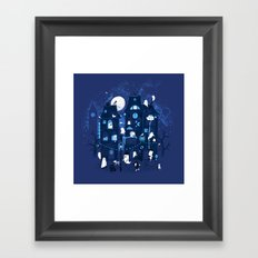 Midnight in Ghost Town Framed Art Print