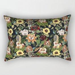 Botanical Puppies Rectangular Pillow