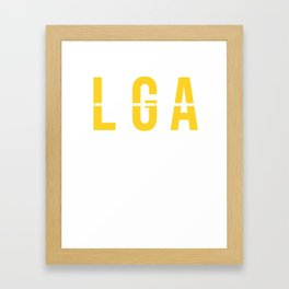 LGA - La Guardia Airport - New York City - Airport Code Souvenir or Gift Design Framed Art Print