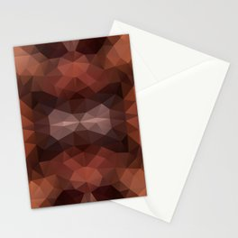 Mozaic design in dark brown colors Stationery Cards