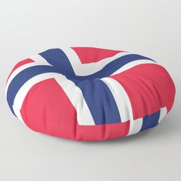 Norway flag emblem Floor Pillow