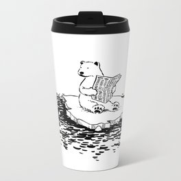 Polar Bear Monday Metal Travel Mug