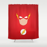 flash Shower Curtains featuring FLASH by Roboz