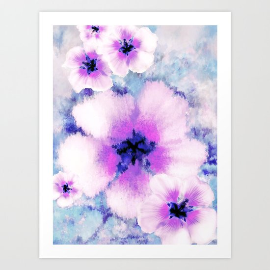Rose of Sharon Bloom Art Print