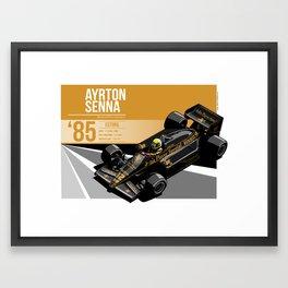 Ayrton Senna - 1985 Estoril Framed Art Print