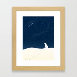 Winter Night Framed Art Print