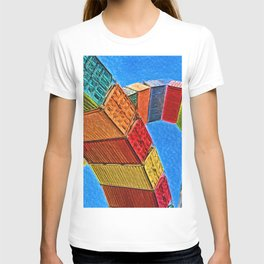 A Rainbow Of Shipping Containers T-shirt