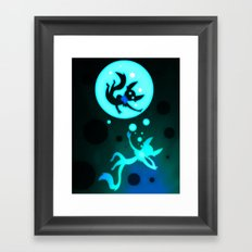 Swimming Framed Art Print