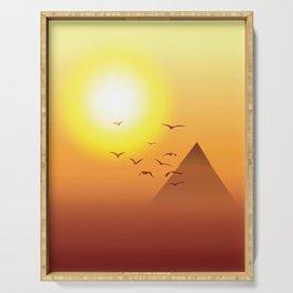 Pyramids Serving Tray
