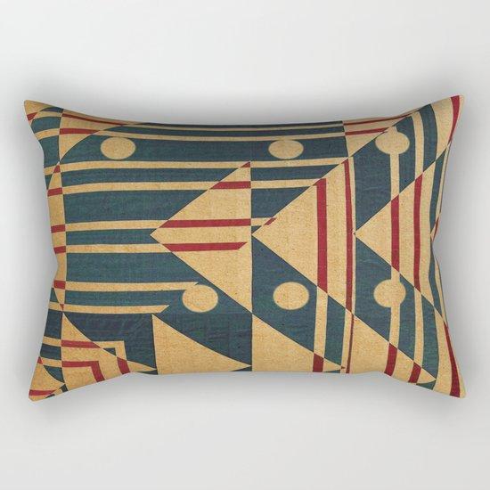 Birds in Row Rectangular Pillow