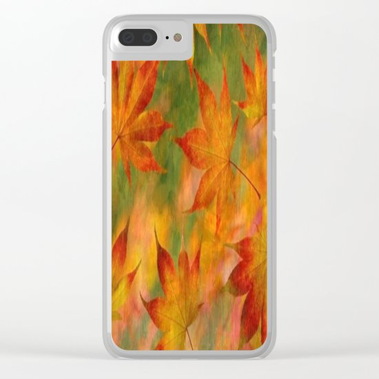 Falling Leaves - Autumn Clear iPhone Case