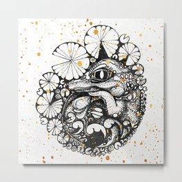 Baby Crocodile Inktober :: I Am The Unborn Metal Print