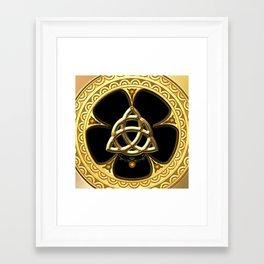 Decorative celtic knot Framed Art Print
