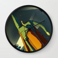 superman Wall Clocks featuring Superman by Peerro