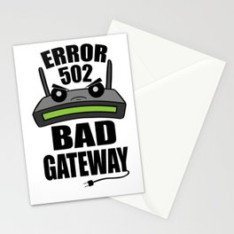 Router 502 Gateway Internet Nerdy Geek Gift Stationery Cards