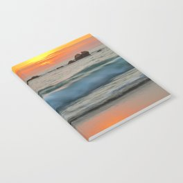 Golden sunset with turquoise waters Notebook