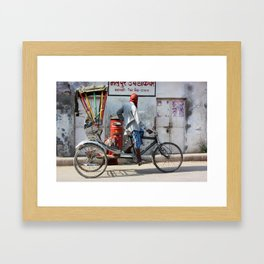 Indian rickshaw Framed Art Print