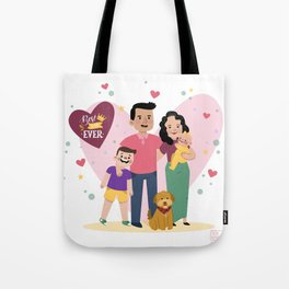 Personalized Illustratiom for Fathers Day Tote Bag