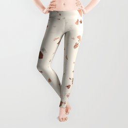 Rose Gold and Cream Terrazzo Leggings