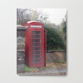 The Phone Box Metal Print
