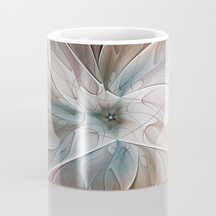 A Floral Friend, Abstract Fractal Art Coffee Mug