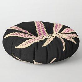 Purple marijuana leaf cannabis weed tapestry minimalist pattern Floor Pillow