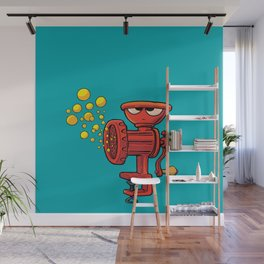 frown grinding machine produces bubbles Wall Mural