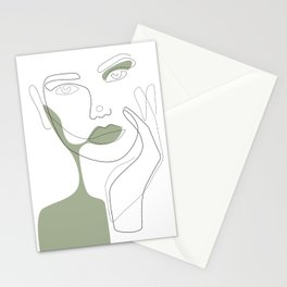 Green Shadow Stationery Cards