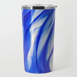 Abstract blue glass texture Travel Mug