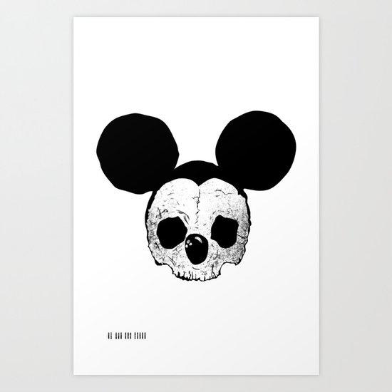Dead Mickey Mouse Art Print