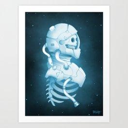 Starry grave Art Print