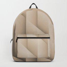 Pantone Hazelnut Gradient Diamonds, Ombre Geometric Shape Pattern Backpack