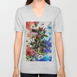 BEES AND CLOVER Unisex V-Neck