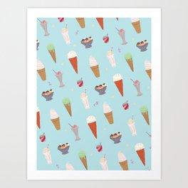 Ice Cream Madness Art Print
