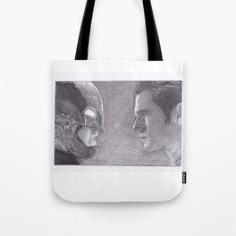 DC Comics Bat man v Superman Tote Bag