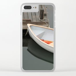 Skiff with life preserver Clear iPhone Case