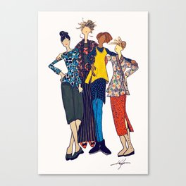 Stylin Gals in Patterns by Kayla Kennington Canvas Print