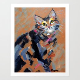 Stripes and Strokes Art Print