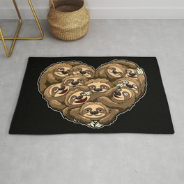 Heart Full Of Sloths - Laziness Lover Rug