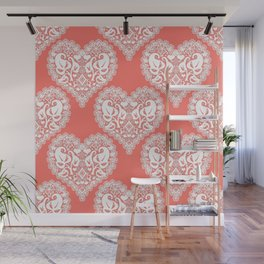 Lace heart Wall Mural