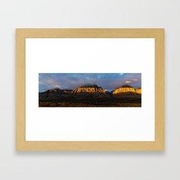 Glowing Desert Framed Art Print