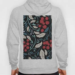 Holiday Holly and Mistletoe Pattern Hoody