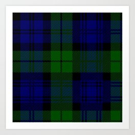 Black Watch or Clan Campbell Tartan Art Print