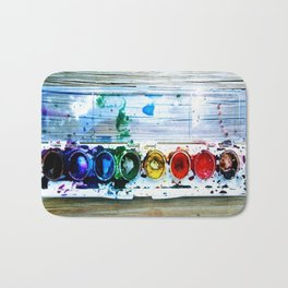 forrest's paint Bath Mat