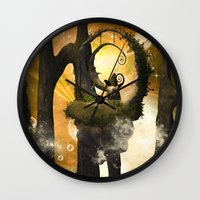 wonderland Wall Clocks featuring Wonderland  by nicky2342