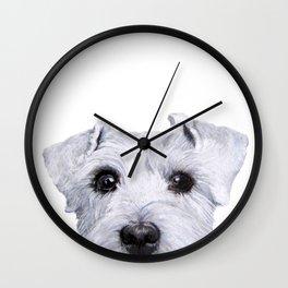 Schnauzer original Dog original painting print Wall Clock